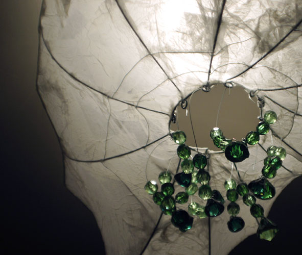 Ceiling lamp with green bids