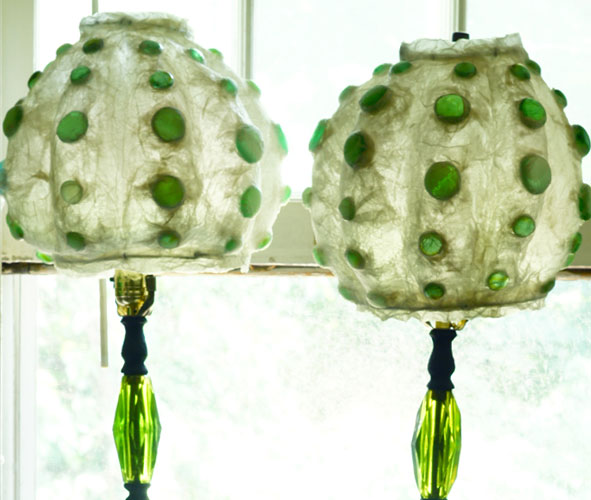 sfere lamp wit glass beeds