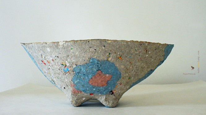 bowl grey and blue
